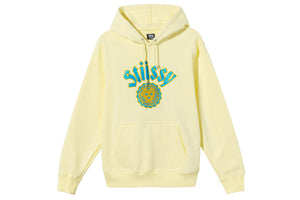 Stussy City Embroidered Seal Hoodie - Pale Yellow
