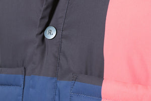Rochambeau Stripe Detail Padded Jacket - Red/Navy
