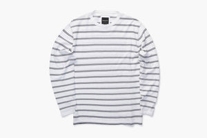 Barney Cools Luxe Knit - White Stripe