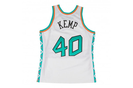 5c217735086d Mitchell   Ness Shawn Kemp Authentic Jersey 1996 All Star - White ...