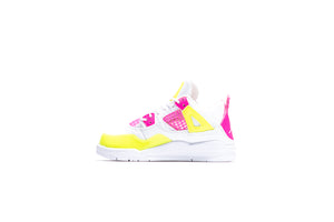 Air Jordan 4 Retro SE (PS) - White/Lemon Venom