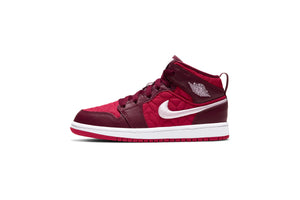 Air Jordan One Mid SE (PS) - Gym Red/Dark Beetroot