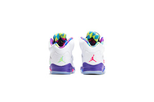 Air Jordan 5 Retro 'Ghost Green' (GS) - White/Ghost Green/Court Purple