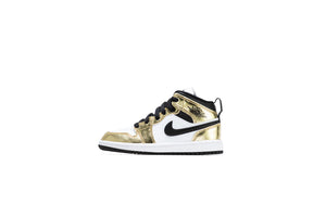 Air Jordan 1 Mid SE PS - Metallic Gold/Black/White