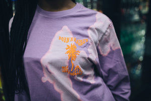 Born X Raised Warped Boardwalk LS Tee - Lavender