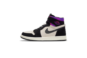 Air Jordan 1 Zoom Cmfrt x Paris Saint-Germain - White/Black/Psychic Purple/Hyper Pink