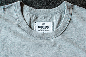 Reigning Champ  Tee - Heather Grey