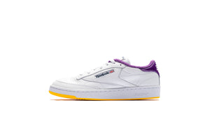 Reebok x Eric Emanuel Club C 85 - White/Regal Purple/Retro Yellow