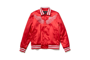 En Noir Midnight Angels Satin Jacket - Red