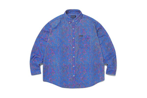 thisisneverthat Floral Corduroy Shirt - Blue