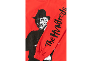 The Hundreds X Nightmare On Elm Freddy LS T-Shirt - Red