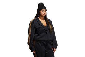 WMNS Adidas x IVY PARK Crop Suit Jacket (Plus Size) - Black