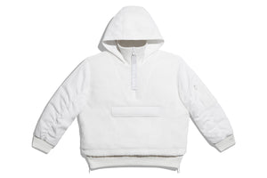 Adidas x Ivy Park Half Zip Sherpa Layered Jacket (All Gender) - White