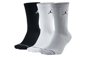 Air Jordan Everyday Max Crew Sock 3 Pack - Black/Grey/White