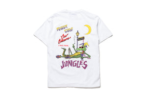 Politics x Jungles Party Alligator Tee - White
