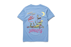 Politics x Jungles Party Alligator Tee - Blue