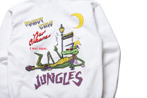 Politics x Jungles Party Alligator Hoodie - White