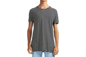 Ksubi Sinster S/S Tee - B&W Stripes