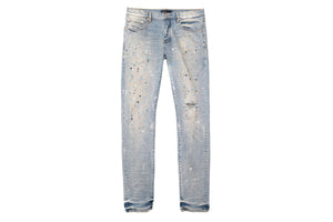 Purple Brand Slim Fit Jeans - Light Indigo Painter