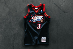 Allen Iverson 1997-98 Authentic Jersey Philadelphia 76ers - Black