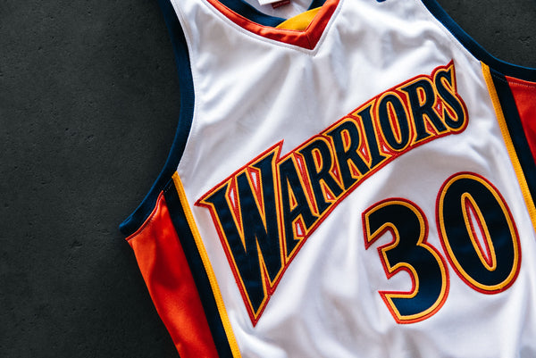 differently e0291 840f0 M&N Warriors Curry Jersey - White