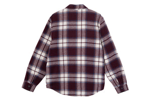 Stussy Max Plaid Quilted Shirt - Burgundy