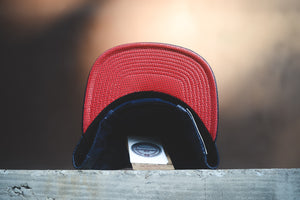 New Orleans Pelicans Lambskin Leather Snapback- 'Navy/Red'