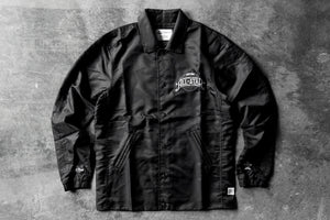 M&N x Reigning Champ Satin Coach's Jacket - Black