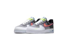 Nike Air Force 1 '07 'Recycled Jerseys' - White/Sport Red/Grey