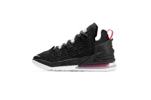 Nike LeBron XVIII - Black/White/University Red