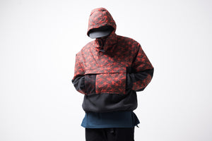 Nike ACG Fleece Anorak - Black/Rush Red