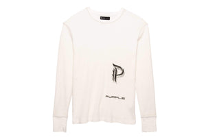 Purple Brand Reflective Stitch Crew - Off White Scorpion