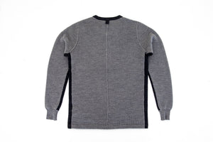 Ovadia & Sons 'Zack Thermal Henley Sweater' - Heather Grey