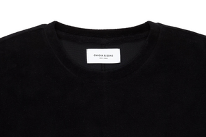 Ovadia & Sons 'Velour' Plush T-Shirt - Black