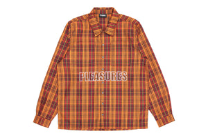 Pleasures Shade Plaid Work Shirt - Orange