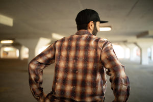 Purple Brand Bleached Flannel Shirt - Red