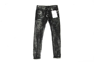 Purple Brand Black Wash Metallic Silver Jeans