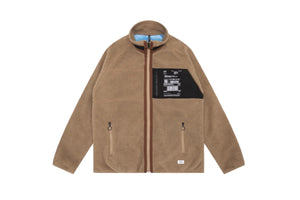 STAMPD Cardiff Reversible Sherpa Jacket - Beige