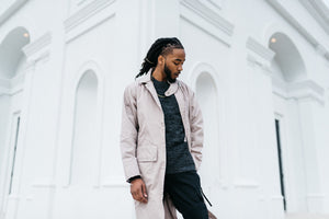 STAMPD Zip Trench - Taupe