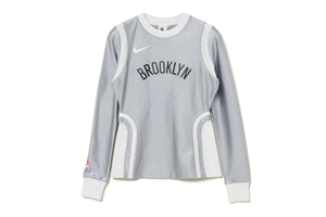 WMNS Nike x Ambush NBA Nets Long Sleeve Top - Grey