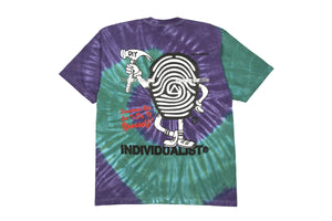 INDVLST Mr. Print Tee - Purple/Green