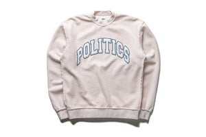 Politics Collegiate Reverse Fleece Crewneck - Oatmeal