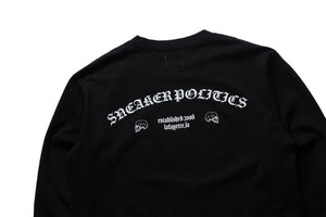 Politics Mind Blown Reversible L/S Tee - Black
