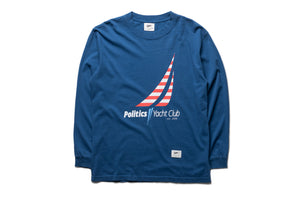 Politics Yacht Club Reversible L/S Tee - Blue