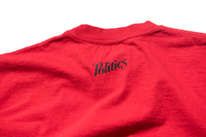 Politics Arch Collegiate T-Shirt - Red/Black