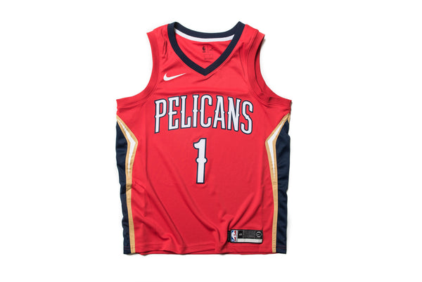 Nike Nba Zion Williamson New Orleans Pelicans Alternate Swingman Jersey Red