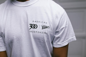 Politics x 300 Entertainment Tee - White