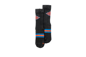 Jordan Brand Legacy Crew Socks - Black/Navy/Red
