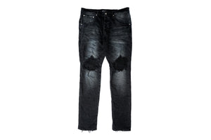 Purple Mid Rise Jeans - Black Wash Blowout