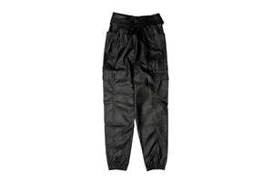 WMNS Jordan Brand Court-To-Runway Faux Leather Utility Pants - Black